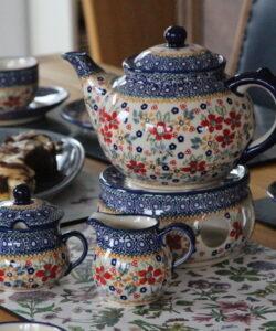 Komplettes Tee- und Kaffeegeschirr 22 teilig Dekor Summerflower